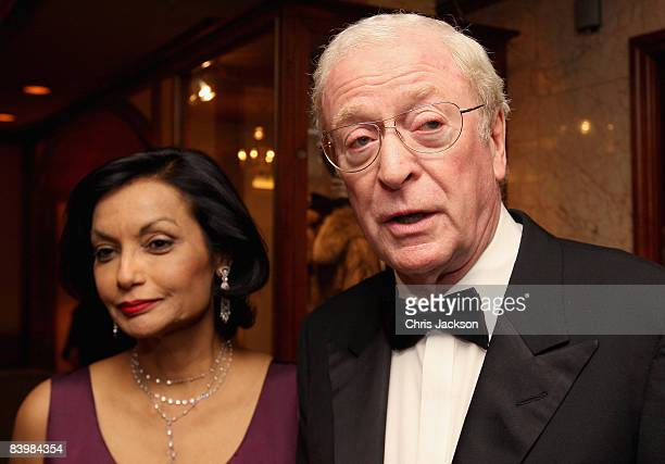 Actor Sir Michael Caine and wife Shakira Caine arrive at the Norwegian Nobel Committe Banquet at the Grand Hotel on December 10, 2008 in Oslo,...