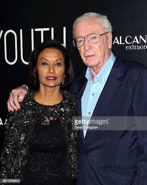 """Actor Sir Michael Caine and wife Shakira Caine attend the premiere of Fox Searchlight Pictures' """"Youth"""" at the DGA Theater on November 17, 2015 in..."""