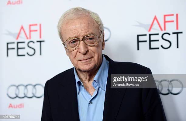 Actor Sir Michael Caine arrives at the AFI FEST 2015 Presented by Audi Screening of Fox Searchlight Pictures' Youth at the Egyptian Theatre on...