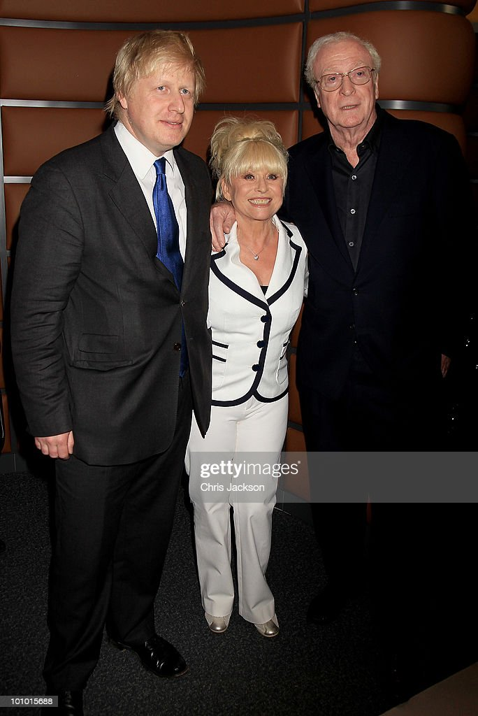 Actor Sir Michael Caine , Boris Johnson and Barbara Windsor attend The Galleries of Modern London launch party at the Museum of London on May 27, 2010 in London, England.