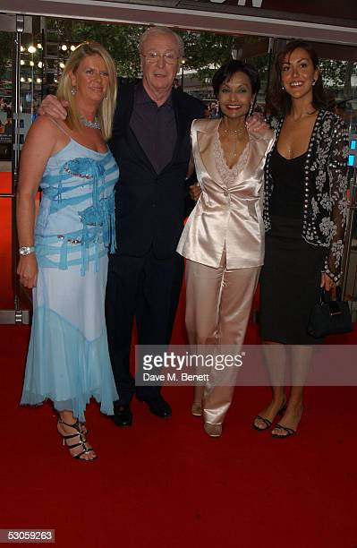 Actor Sir Michael Caine his wife Shakira daughters Natasha and Nikki arrive at the European premiere of Batman Begins at the Odeon Leicester Square...