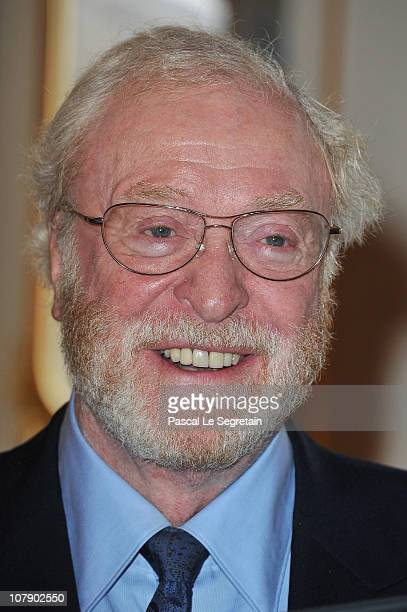 Actor Sir Michael Caine poses at Ministere de la Culture on January 6 2011 in Paris France