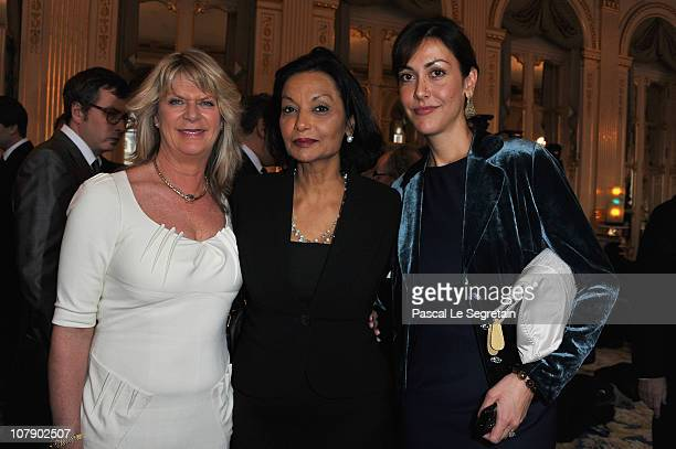 Actor Sir Michael Caine's daughters Natasha and Dominique and pose with Shakira Caine at Ministere de la Culture on January 6, 2011 in Paris, France.