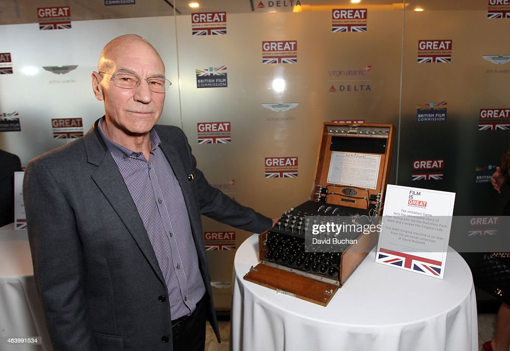 Actor Sir Patrick Stewart attends the GREAT British film reception honoring the British nominees of the 87th Annual Academy Awards at The London West Hollywood on February 20, 2015 in West Hollywood, California.