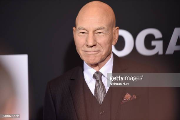 Actor Sir Patrick Stewart attends the 'Logan' New York special screening at Rose Theater Jazz at Lincoln Center on February 24 2017 in New York City