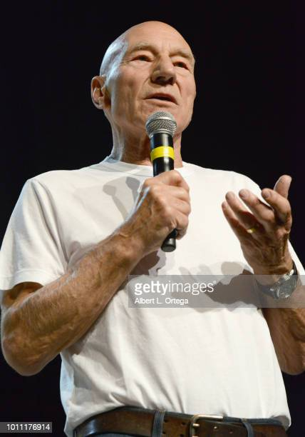 Actor Sir Patrick Stewart in an unannounced special guest appearance that he will return to the role of Captain Jean Luc Picard in the second Star...