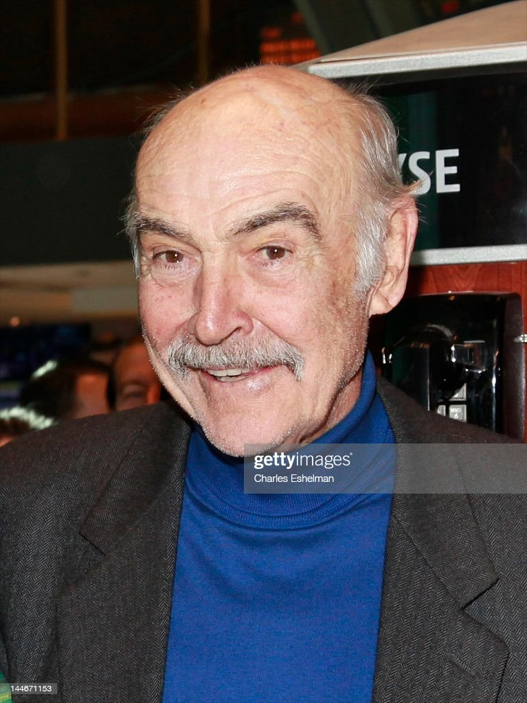 Actor Sir Sean Connery visits the New York Stock Exchange on May 17, 2012 in New York City.