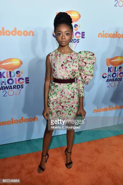 Actor Skai Jackson at Nickelodeon's 2017 Kids' Choice Awards at USC Galen Center on March 11 2017 in Los Angeles California