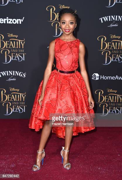 Actor Skai Jackson attends Disney's 'Beauty and the Beast' premiere at El Capitan Theatre on March 2 2017 in Los Angeles California