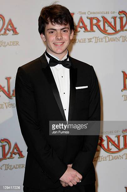 Actor Skandar Keynes attends The Chronicles Of Narnia The Voyage Of The Dawn Treader Royal Film Performance 2010 at Odeon Leicester Square on...