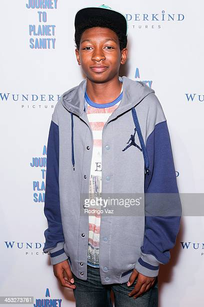 Actor Skylan Brooks attends 'A Journey To Planet Sanity' Los Angeles Premiere at Laemmle Monica 4Plex on December 2 2013 in Santa Monica California