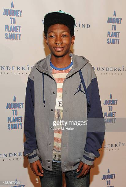 Actor Skylan Brooks attends the Los Angeles Premiere of A Journey To Planet Sanity at the Laemmle Monica 4Plex on December 2 2013 in Santa Monica...