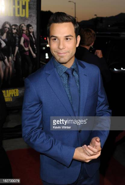 Actor Skylar Astin arrives at the premiere of Universal Pictures And Gold Circle Films' Pitch Perfect at ArcLight Cinemas on September 24 2012 in...