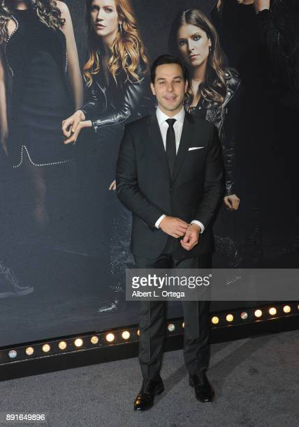 Actor Skylar Astin arrives for the Premiere Of Universal Pictures' 'Pitch Perfect 3' held at The Dolby Theater on December 12 2017 in Hollywood...