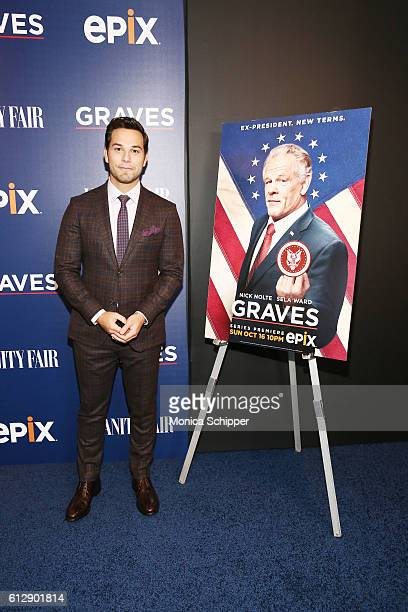 Actor Skylar Astin attends the EPIX Graves NY premiere on October 5 2016 in New York City