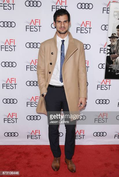 Actor Skyler Bible attends the 2017 AFI Fest opening night gala screening of 'Mudbound' at TCL Chinese Theatre on November 9 2017 in Hollywood...
