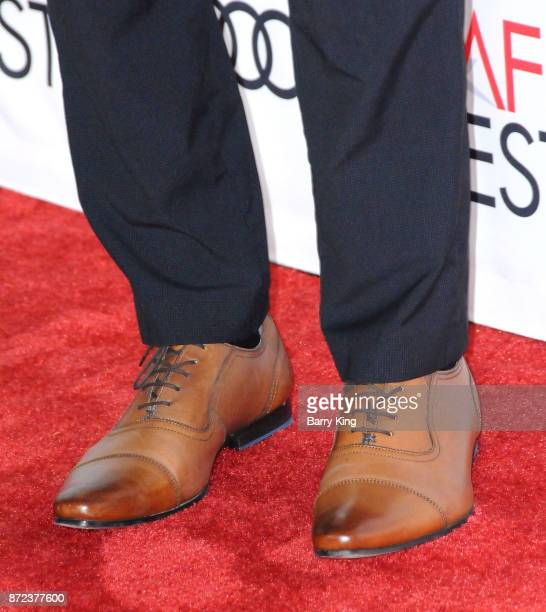Actor Skyler Bible shoe detail attends AFI FEST 2017 Presented by Audi Opening Night Gala Screening Of Netflix's 'Mudbound' at TCL Chinese Theatre on...