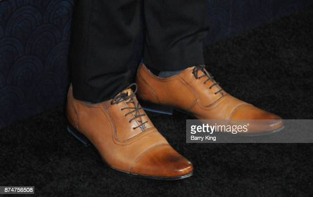 Actor Skyler Bible shoe detail attends the premiere of Fox Searchlight Pictures' 'The Shape Of Water' at Academy Of Motion Picture Arts And Sciences...