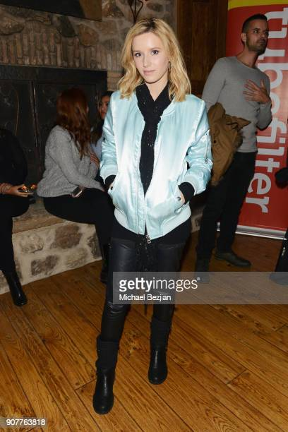 Actor Sloane Avery attends the WanderLuxxe House with Apex Social Club presents 'Mandy' after party presented by OTTLending during Sundance 2018 on...