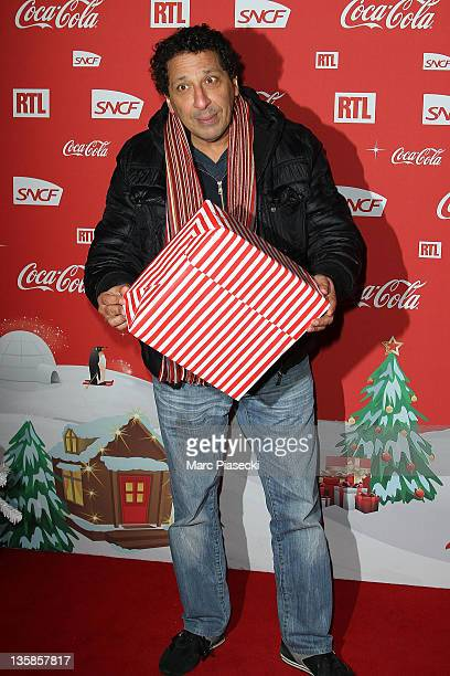 Actor Smain attends the 'Association Petits Princes' And Coca Cola Red Train Launch at Gare de L'Est on December 15 2011 in Paris France