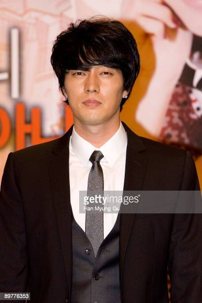 Actor So JiSub attend the Sophie's Revenge press conference at Shilla Hotel on August 13 2009 in Seoul South Korea The film will open on August 20 in...