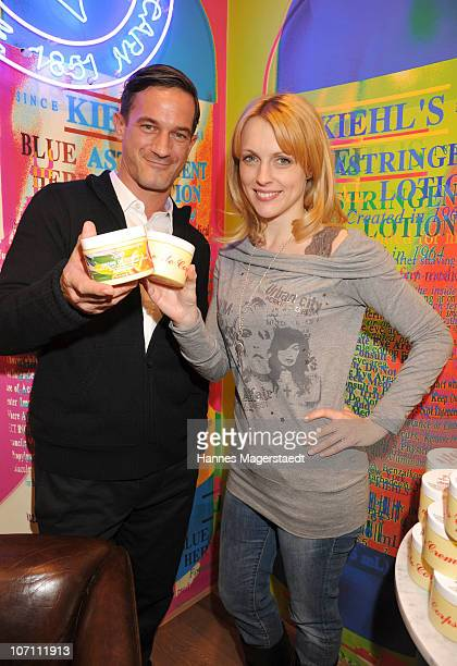 Actor Soenke Moehring and actress Natalie Alison attend the Kiehl's Store Opening on November 24 2010 in Munich Germany