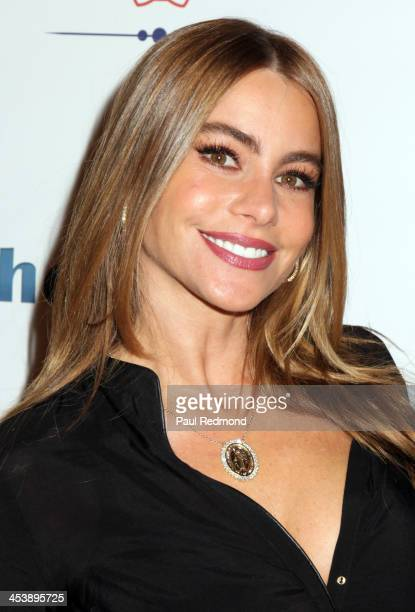Actor Sofía Vergara arrives at 'Tie The Knot' Store Grand Opening with founder Jesse Tyler Ferguson at The Beverly Center on December 5 2013 in Los...