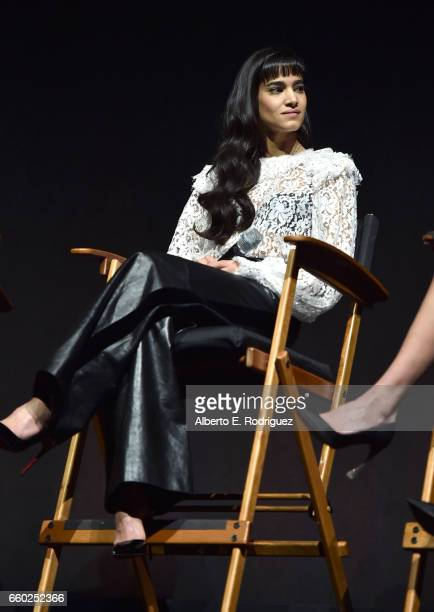 Actor Sofia Boutella speaks onstage at CinemaCon 2017 Universal Pictures Invites You to a Special Presentation Featuring Footage from its Upcoming...