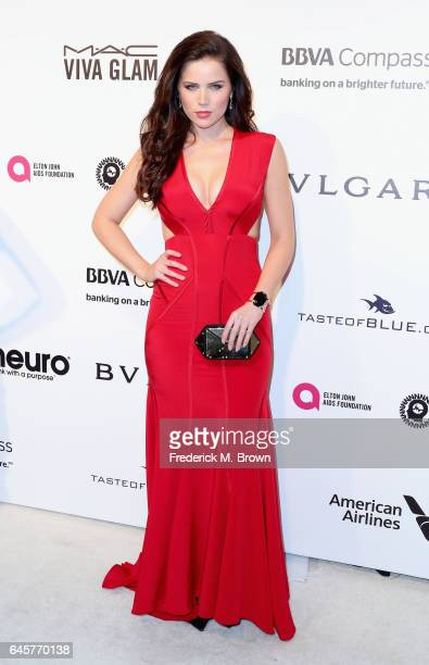 Actor Sofia Mattsson attends the 25th Annual Elton John AIDS Foundation's Academy Awards Viewing Party at The City of West Hollywood Park on February...