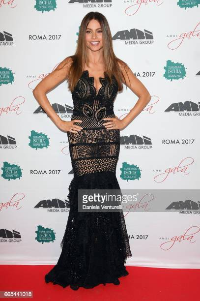 Actor Sofia Vergara attends AMBI GALA In Honour Of at Hotel Exedra on April 6 2017 in Rome Italy