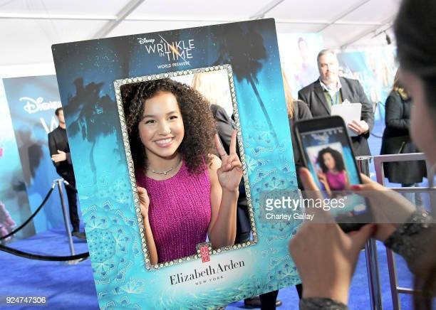 Actor Sofia Wylie arrives at the world premiere of Disney's 'A Wrinkle in Time' at the El Capitan Theatre in Hollywood CA Feburary 26 2018