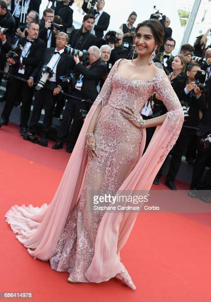 Actor Sonam Kapoor attends the 'The Meyerowitz Stories' screening during the 70th annual Cannes Film Festival at Palais des Festivals on May 21 2017...