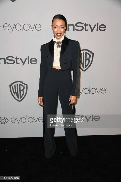 Actor Sonequa MartinGreen attends 19th Annual PostGolden Globes Party hosted by Warner Bros Pictures and InStyle at The Beverly Hilton Hotel on...