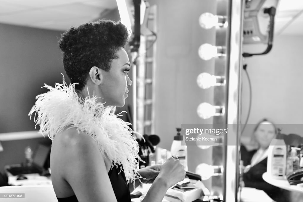 Actor Sonequa Martin-Green attends the Costume Designers Guild Awards at The Beverly Hilton Hotel on February 20, 2018 in Beverly Hills, California.