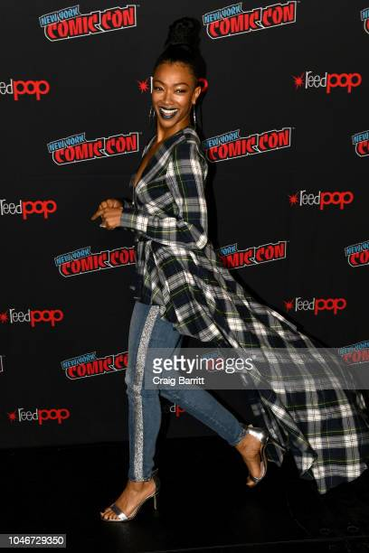 Actor Sonequa MartinGreen attends the Star Trek Discovery panel during New York Comic Con at The Hulu Theater at Madison Square Garden on October 6...