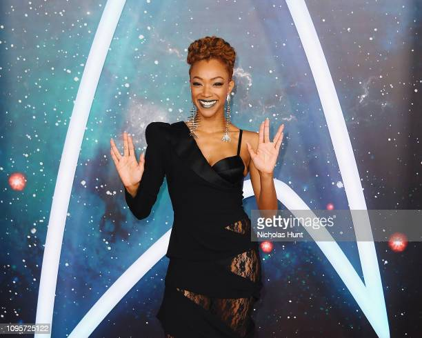 """Actor Sonequa Martin-Green attends the """"Star Trek: Discovery"""" Season 2 Premiere at the Conrad New York on January 17, 2019 in New York City."""