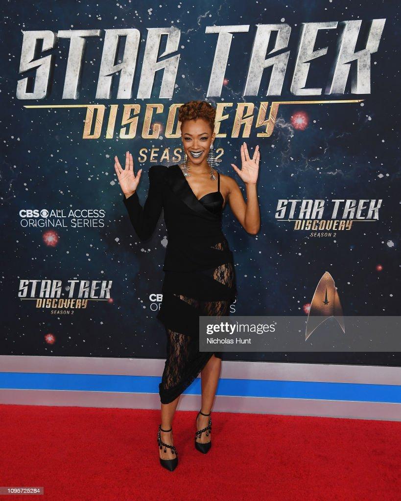 Actress Sonequa Martin-Green attends Star Trek: Discovery