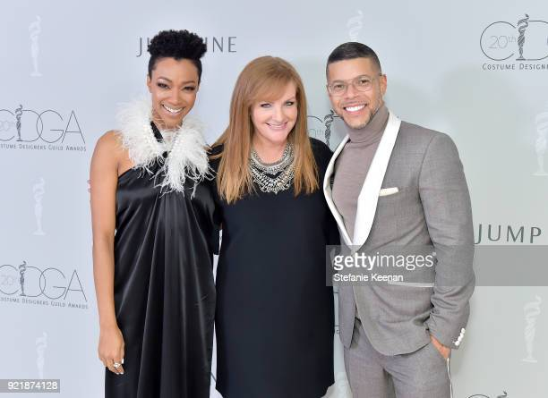 Actor Sonequa MartinGreen IMAX Global Chief Marketing Officer and JumpLine Group chairman JL Pomeroy and actor Wilson Cruz attend the Costume...