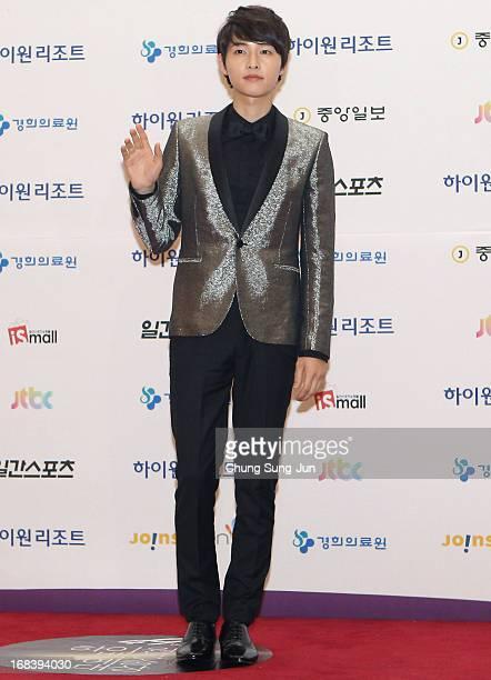 Actor Song JoongKi arrives for the 49th Paeksang Arts Awards on May 9 2013 in Seoul South Korea