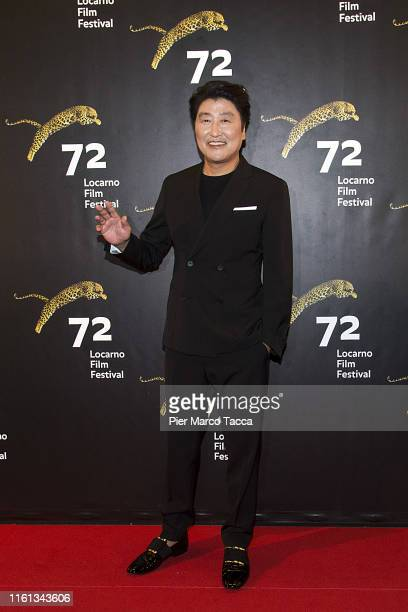 Actor Song Kangho attends the Excellence Award photocall during the 72nd Locarno Film Festival on August 12 2019 in Locarno Switzerland