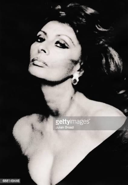 Actor Sophia Loren is photographed in London England