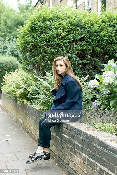 Actor Sophie Cookson is photographed for Harpers Bazaar on July 8 2014 in London England