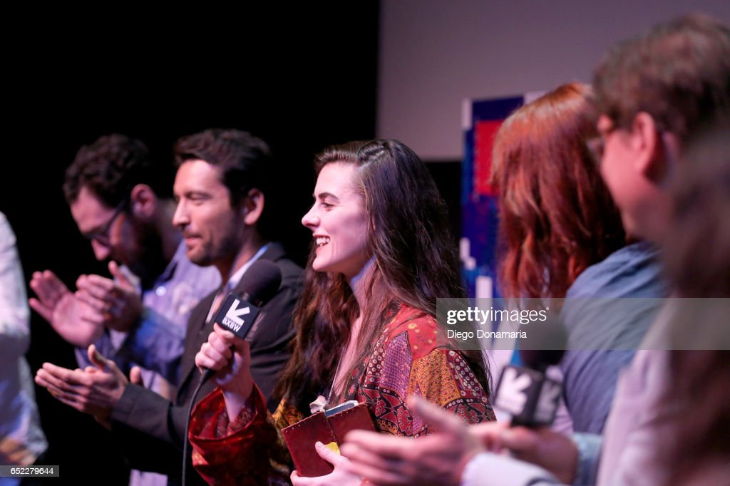 Actor Sophie Reid (C) speaks onstage at the premiere of 'La Barracuda' during 2017 SXSW Conference and Festivals at Stateside Theater on March 11, 2017 in Austin, Texas.