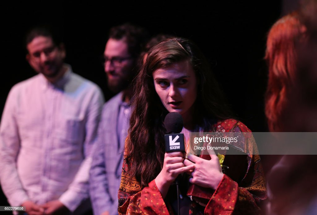 Actor Sophie Reid speaks onstage at the premiere of 'La Barracuda' during 2017 SXSW Conference and Festivals at Stateside Theater on March 11, 2017 in Austin, Texas.