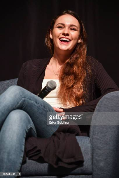 Actor Sophie Skelton of 'Outlander' attends Wizard World Comic Con at Ernest N Morial Convention Center on January 05 2019 in New Orleans Louisiana