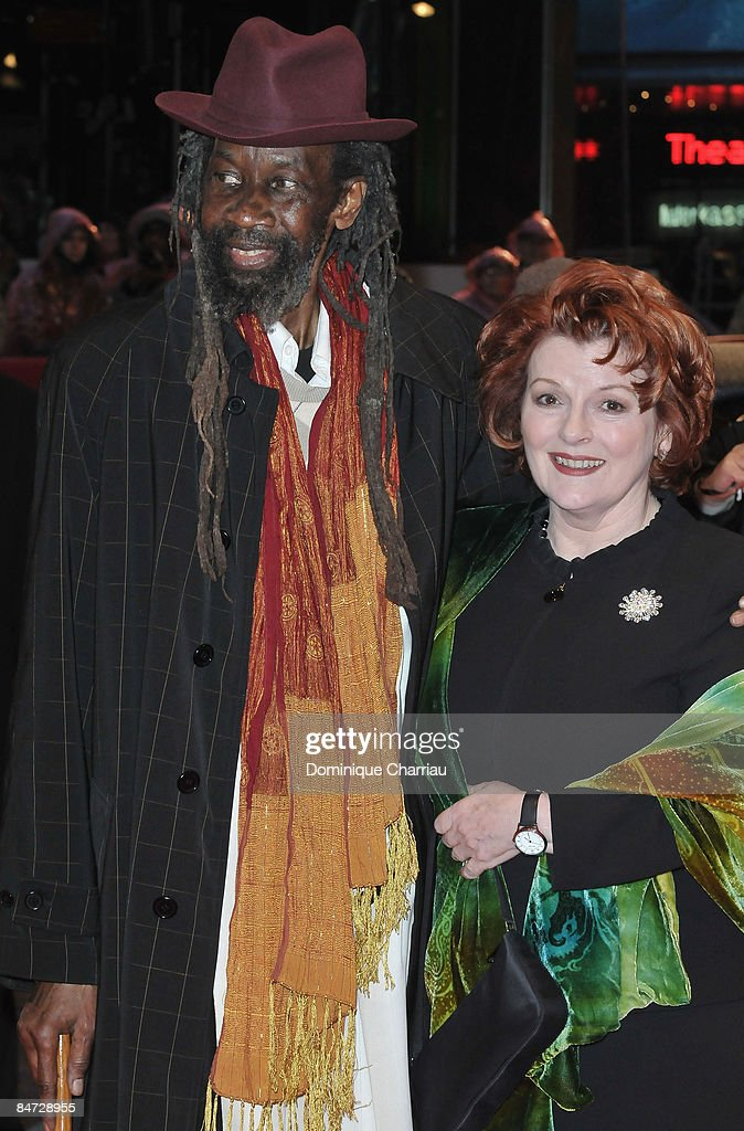 Actor Sotigui Kouyate and actress Brenda Blethyn attend the 'London River' premiere during the 59th Berlin International Film Festival at the Berlinale Palast on February 10, 2009 in Berlin, Germany.