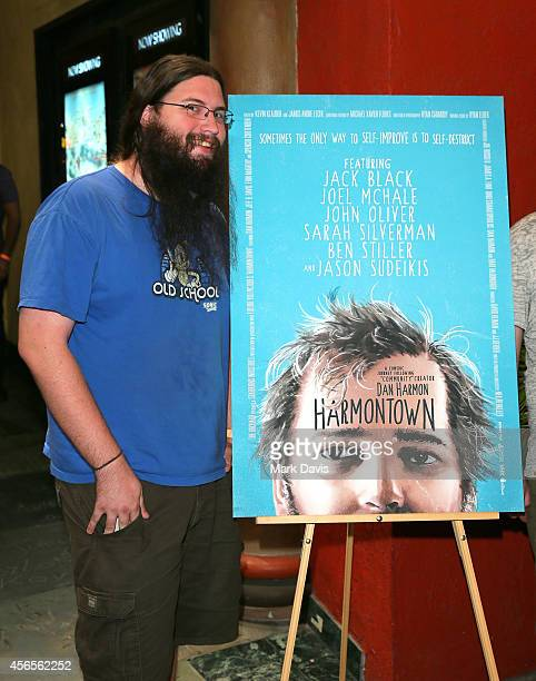 Actor Spencer Crittenden poses at the special screening of The Orchard's 'Harmontown held at the Vista Theatre on October 2 2014 in Los Angeles...