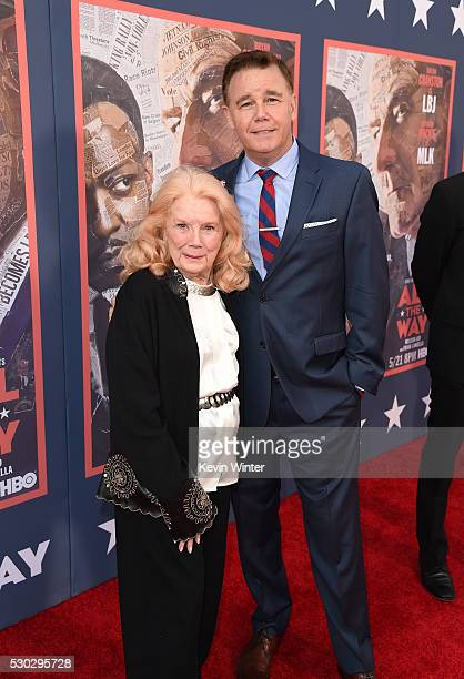 Actor Spencer Garrett and Kathleen Nolan attend the All The Way Los Angeles Premiere at Paramount Studios on May 10 2016 in Hollywood City