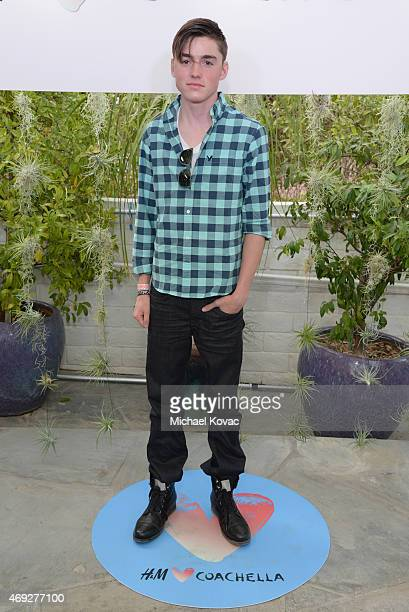 Actor Spencer List attends the Official HM Loves Coachella Party at the Parker Palm Springs on April 10 2015 in Palm Springs California