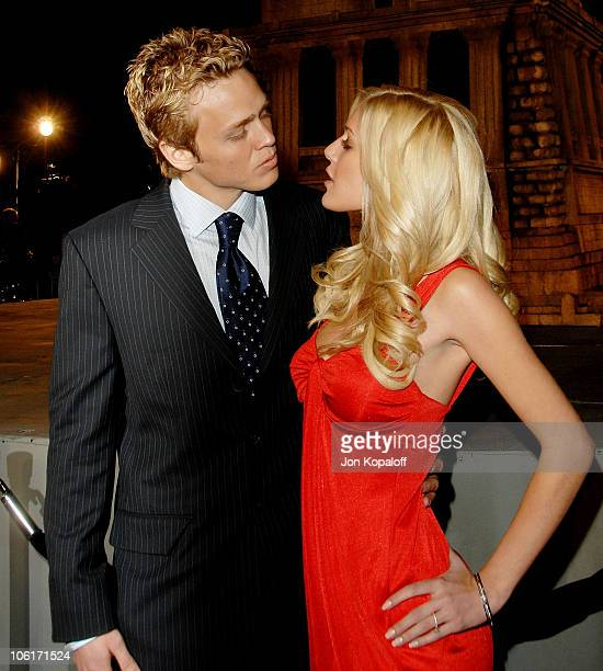 Actor Spencer Pratt and actress/singer Heidi Montag arrive at the Los Angeles Premiere Cloverfield at Paramount Studios on January 16 2008 in Los...